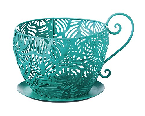 (Evergreen Peacock Metal Teacup)