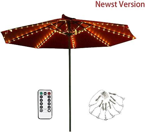 Umbrella Lights 104 LED Patio Parasol Outdoor Garden Lighting Remote Control
