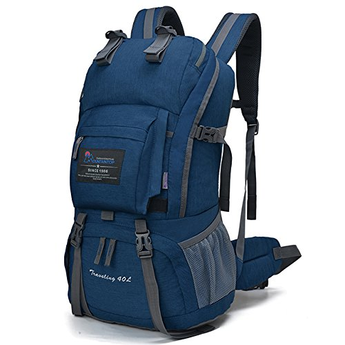 Mountaintop 40 Liter Hiking Backpack for Outdoor Camping (Sky blue2) by Mountaintop