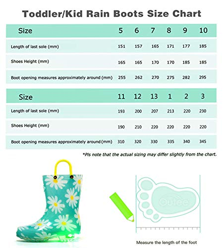 Pictures of Outee Toddler Girls Kids Light Up Rain GLP18AFLWAQU7 2