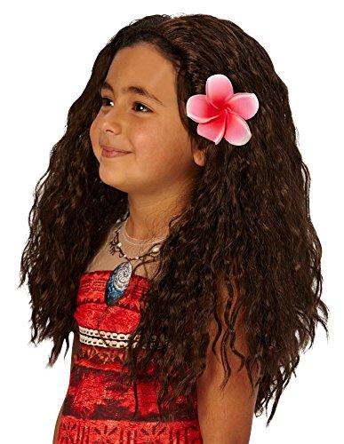 1351ed03ed9b Rubie´s Girls Official Disney Moana Brown Wavy Hawaiian Polynesian ...