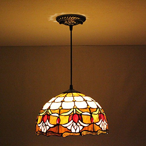ALUS 12 inch Tiffany European Retro Art chandeliers