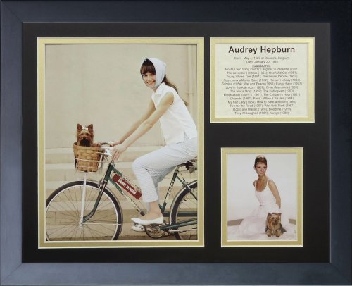 """Legenden Sterben Nie """"Audrey Hepburn II"""" gerahmtes Foto Collage, 11 x 35,6 cm von Legends Never Die"""
