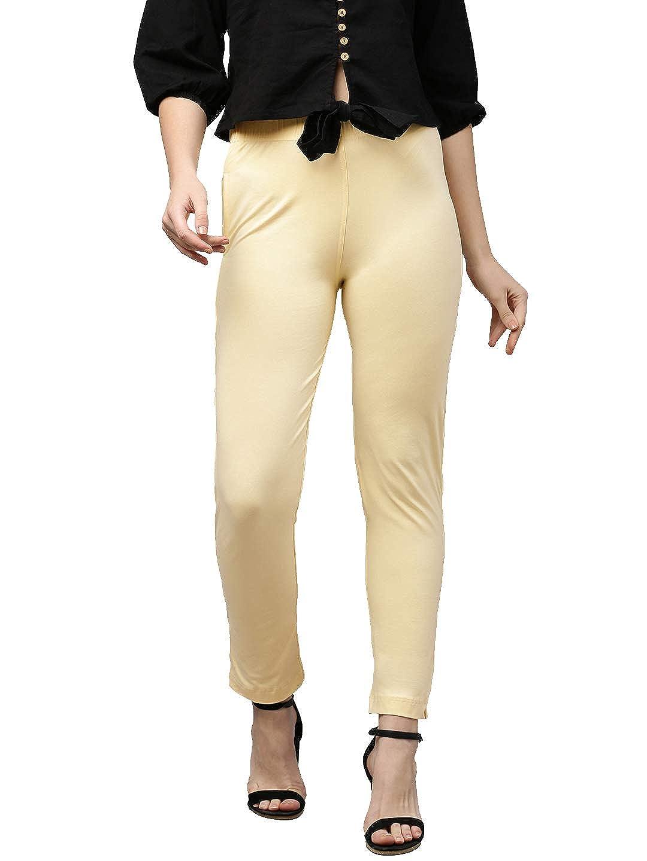 Lux Lyra Women's Straight Pant Slim (LYRA_KURTIPANT_1PC_Cream_Free Size)