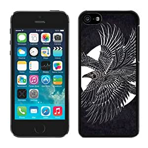 Beautiful Designed Cover Case For iPhone 5C With Moonlight Raven Black Phone Case