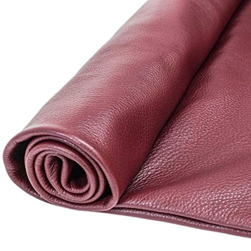 (Springfield Leather Company Leather Hides - Cow Skins Various Colors & Sizes (Burgundy, 12x24))