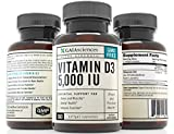 Gaia Sciences Vitamin D3 5,000 IU in Cold-Pressed Organic Olive Oil, GMO-Free, High Potency Softgels, 360 ct. - 51zJC9ujbxL - Gaia Sciences Vitamin D3 5,000 IU in Cold-Pressed Organic Olive Oil, GMO-Free, High Potency Softgels, 360 ct.