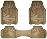 Armor All 78845 Tan 3-Piece Full Coverage Rubber Floor Mat: more info
