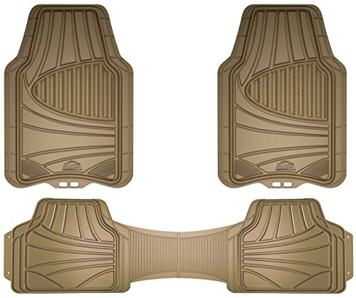 Custom Accessories Armor All 78845 3-Piece Tan Full Coverage Rubber Floor Mat