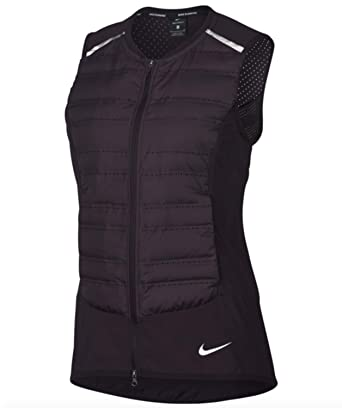 1a57644fd6f5 Nike Aeroloft Running Down Vest Wine Purple Packable Reflective  (856636-652) (Large