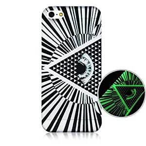 QYF Eye Pattern Fluorescence after Sunniness Hard Back Case for iPhone5/5S