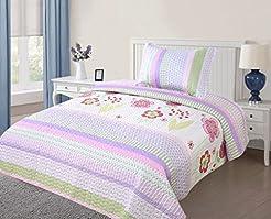 MarCielo 2 Piece Kids Bedspread Quilts S...