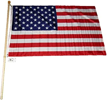 Details about  /5/' Wood Flag Pole Kit Wall Bracket 3x5 USA Trump Thumbs Up Keep America First!