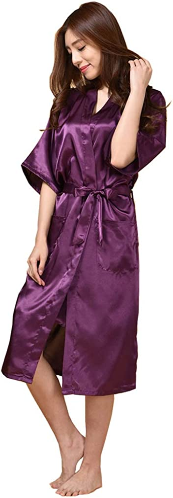 BOYANN Bride Cristallo Vestaglie e Kimono Pigiami e Camicie da Notte