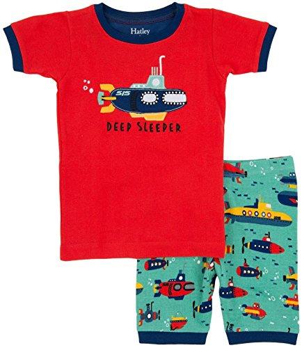 Hatley Little Boys' Short Pajama Set-Submarines, Blue, 7