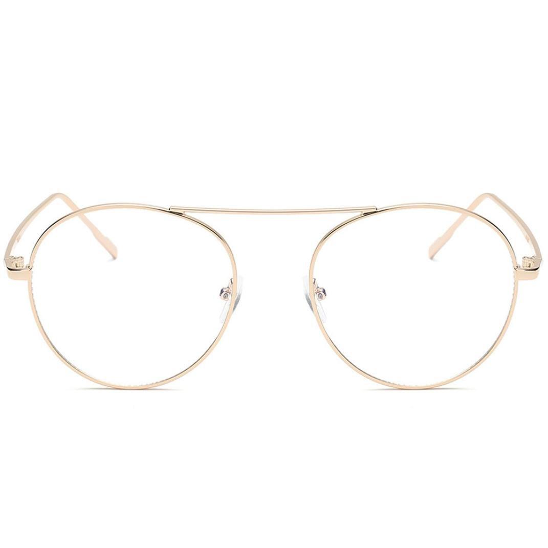Vertily Outdoor Unisex Vintage Round Polarized Mirrored Lens Aviator UV Glasses