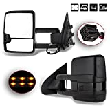 Chevy GMC Towing Mirrors SCITOO Black Rear View Mirrors 2014-2018 Chevy Silverado/GMC Sierra 1500 2015-2018 Chevy Silverado/GMC Sierra 2500 HD 3500HD Power Heated Signal Backup Light