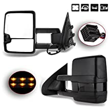 Scitoo Power Heated Clearance LED Signal Side View Mirrors 2014-17 Silverado Sierra Truck Towing Pair Set