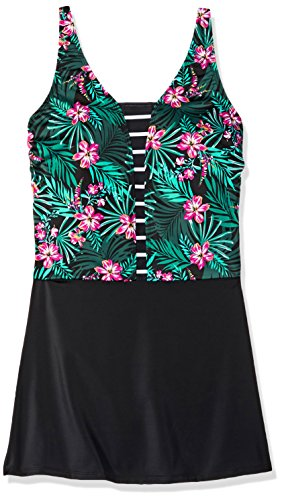 Amoena Women's Mexico Jungle Print Pocketed Swimdress, 14C