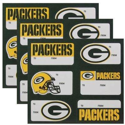 Green Bay Packers Team Gift Sticker Sheet