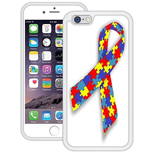 Autismus Band   Handgefertigt   iPhone 6 6s (4,7')   Weiß TPU Hülle