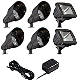 LED Bronze Spot and Path Light Landscape Kit in Black
