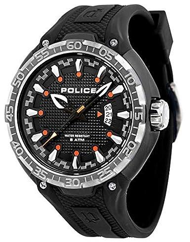 Police Reloj Análogo clásico para Hombre de Cuarzo con Correa en Plástico P13864JPBS02: Police: Amazon.es: Relojes