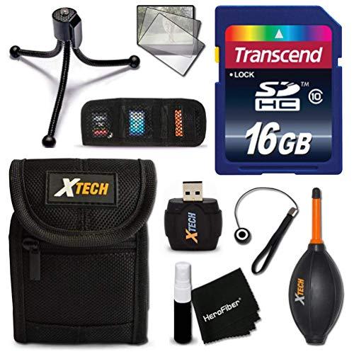 Ideal 16GB Accessories KIT for Sony Cyber-Shot DSC-W800, DSC-W830, DSC-W810, DSC-W730, DSC-W710, DSC-WX220, DSC-W520, DSC-W530, DSC-W550, DSC-W560, DSC-W570, W580 Includes: 32GB Memory + Case +More (Sony Dsc W610)