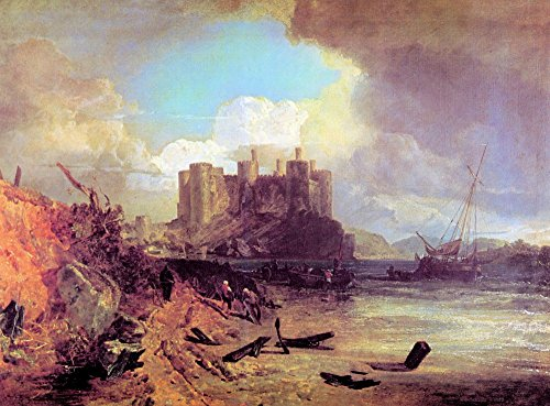 The Museum Outlet - Conway Castle by Joseph Mallord Turner, Stretched Canvas Gallery Wrapped. - Conway Outlets