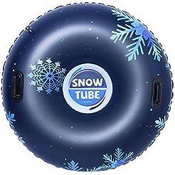 BAYKA Snow Tube for Winter Fun, Inflatab...
