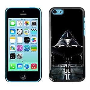Smartphone Rígido Protección única Imagen Carcasa Funda Tapa Skin Case Para Apple Iphone 5C Modern fighter / STRONG