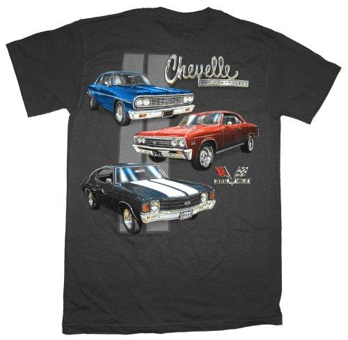 GM Chevrolet Chevelle Classic Car Lineup Automobile T-Shirt Tee Select Shirt Size: Large