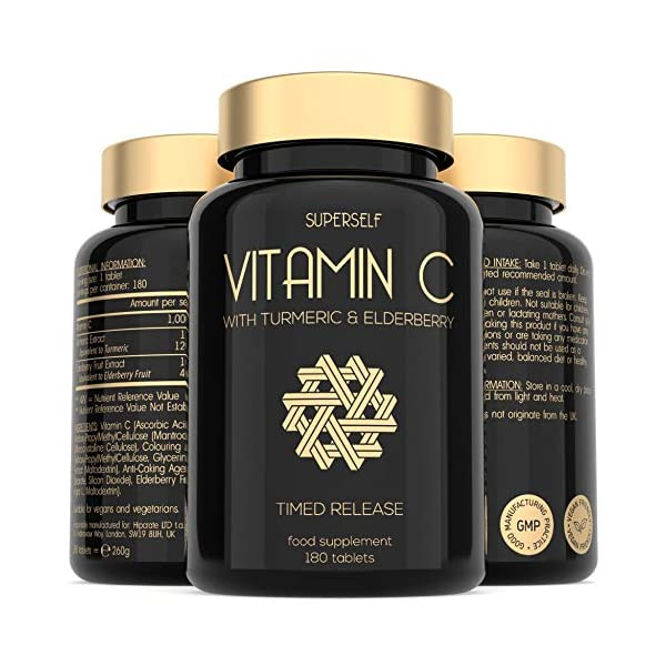 Vitamin-C-1000mg-Tablets-Enriched-with-Elderberry-and-Turmeric-Curcumin-Timed-Release-Formula-180-Tablets-High-Strength-Vit-C-Supplement-Made-in-the-UK-Immune-System-Complex