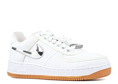 timeless design 6d0d6 5c2dd NIKE Men s Air Force 1 Low Travis Scott, White White-White, 8