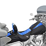 BikeSheath (XLL-BLBK-04-04-BR) Black/Blue Insets Waterproof Seat and Tank Cover