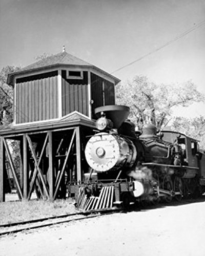 Train engine on railroad track Virginia And Truckee Railroad Poster Print (24 x ()