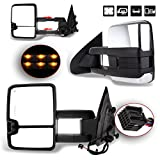 SCITOO Towing Mirror fit 2014-2017 Chevy Silverado/GMC Sierra 1500 2015-2017 Chevy Silverado/GMC Sierra2500 HD 3500HD Power Heated Signal Clearance Light Side Pair Mirrors