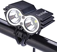 SecurityIng Waterproof 1200 Lumens XM-L U2 LED Bicycle Light 4 Modes Super Bright Bike Lamp Headlight with 8.4