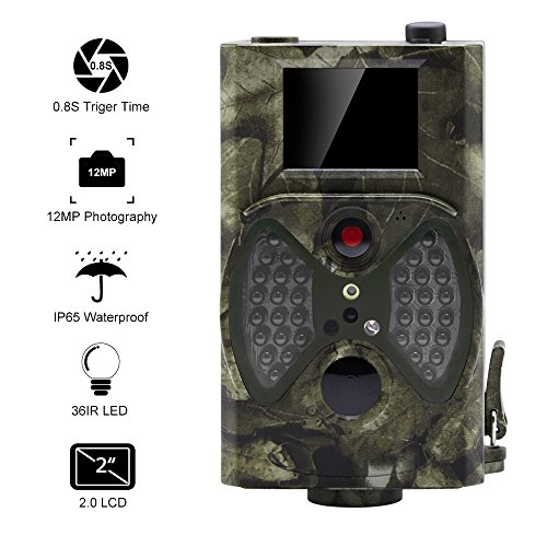 Infrared Led Detector (Distianert Trail Game Camera Wildlife Hunting Camera with Infrared Night Vision, 36pcs 940nm IR LEDs, 2.0-inch LCD Screen, IP65 Waterproof)