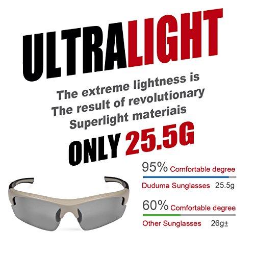 Duduma Polarized Designer Fashion Sports Sunglasses for Baseball Cycling Fishing Golf Tr62 Superlight Frame (grey matte frame with black lens)