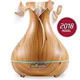 Aromazon Diffuser & Humidifier Wood Grain Ultrasonic Aromatherapy Essential Oil Air Purifier (400ml)