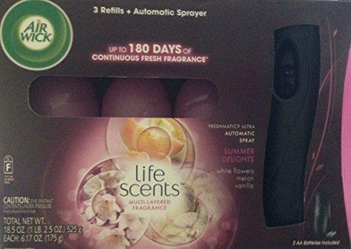 Air Wick Freshmatic Ultra Summer Delights - 3 Refills + 1 Automatic Sprayer
