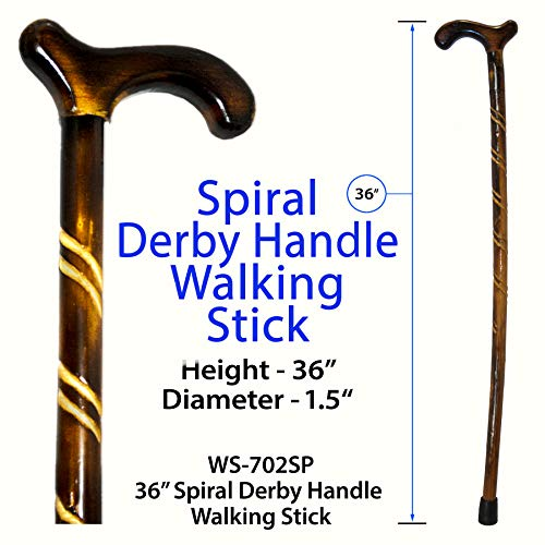 RMS Wood Cane - 36 Inches Natural Wood Walking Stick - Handcrafted Wooden Offset Cane for Men or Wom - http://coolthings.us