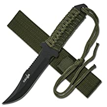 Survivor HK-7526 Outdoor Fixed Blade Knife 7.5-Inch Overall