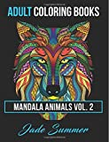 Mandala Animals: Adult Coloring Books: 2