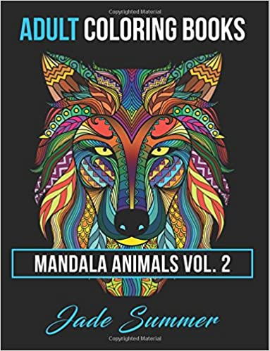 amazoncom 2 adult coloring books animal mandala designs and stress relieving patterns for anger release adult relaxation and zen mandala animals - Amazon Adult Coloring Books