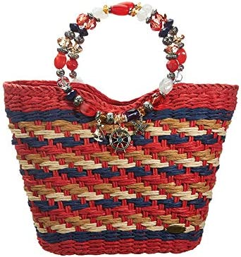ece350a15aec Large Handbag for Women - Cappelli Straworld Luxury Straw Bag ...