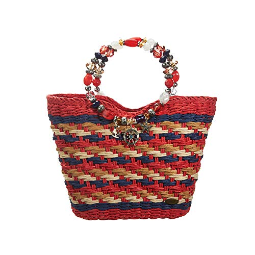 - Large Handbag for Women - Cappelli Straworld Luxury Straw Bag