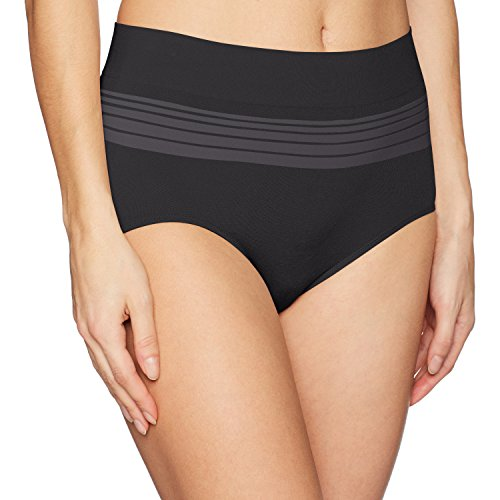 Warner's Women's No Pinching No Problems Seamless Brief Panty, Rich Black, XL
