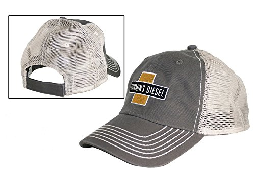 Cummins Diesel Cross Gray Mesh Hat